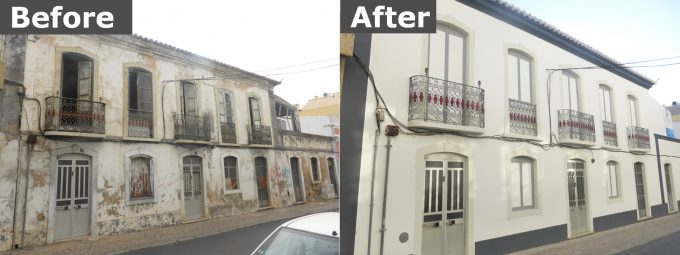 Façade Before and After